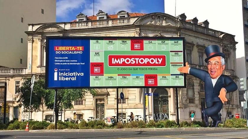 Impostopoly, o jogo do PS, segundo a Iniciativa Liberal. Foto: Facebook Iniciativa Liberal