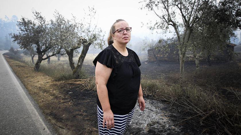 Maria José Coelho, habitante da aldeia de Nodeirinho, perdeu dois familiares no incêndio deste fim-de-semana em Pedrógão Grande