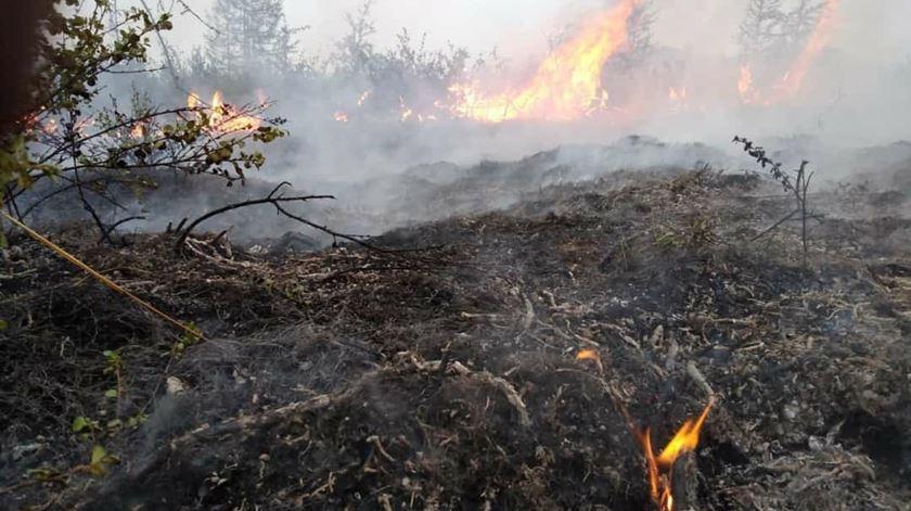 Extinto incêndio em Baião