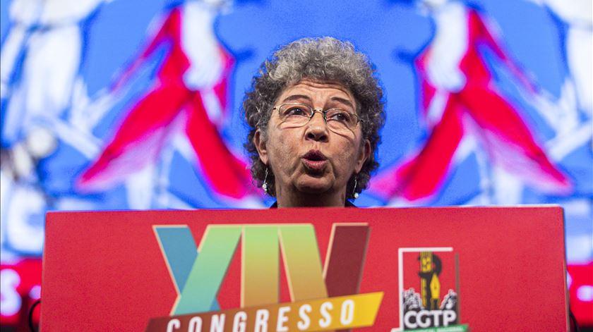 """Nova líder da CGTP promete mais luta. """"Não contem connosco para trair os trabalhadores"""""""