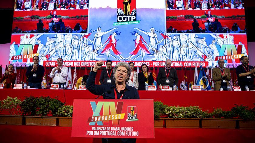 CGTP. Isabel Camarinha, uma secretária-geral pronta para a luta, luta e mais luta