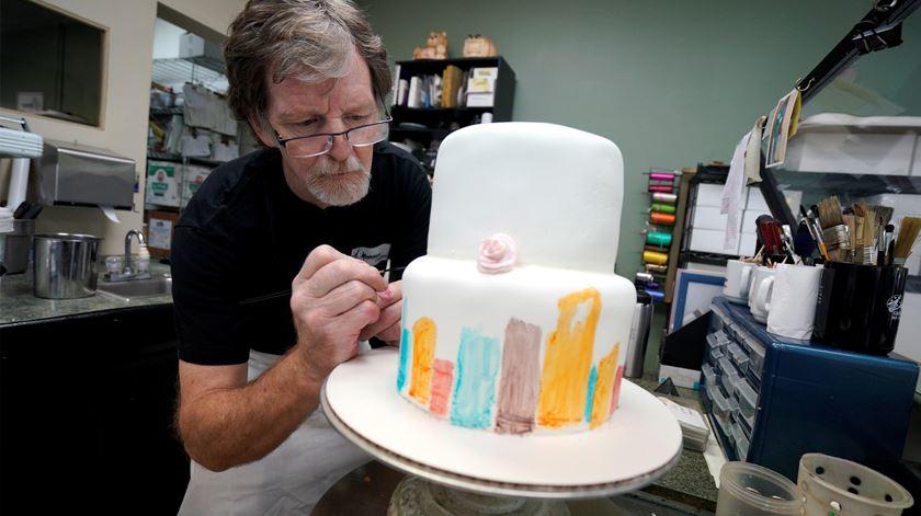 Jack Phillips, o pasteleiro que foi processado por recusar fazer um bolo para um casamento homossexual. Foto: Rick Wilking/Reuters