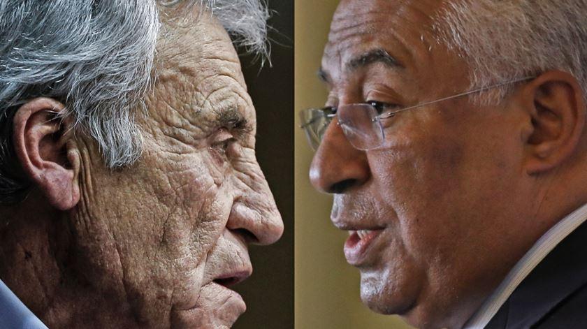 Jerónimo de Sousa e António Costa abriram os debates televisivos. Foto: Lusa