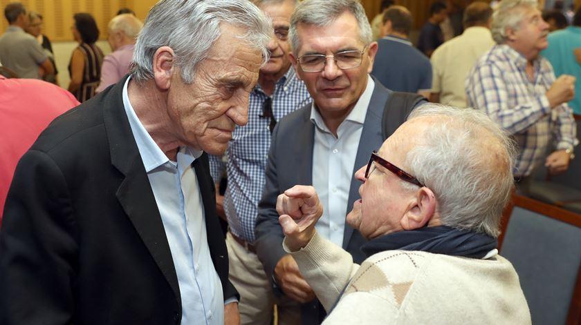 """Jerónimo de Sousa, na iniciativa """"Dar mais Força à CDU"""", na Madeira. Foto:Homem de Gouveia/Lusa."""