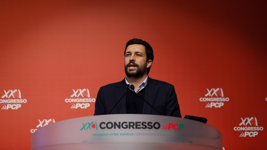 João Ferreira, candidato pela CDU à Câmara de Lisboa. Foto. António Cotrim/Lusa