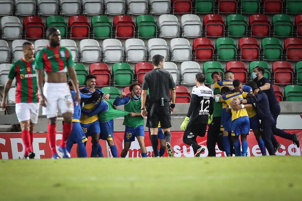 O Marítimo foi uma das três equipas que o Estoril eliminou da Taça de Portugal Foto: Homem de Gouveia/Lusa