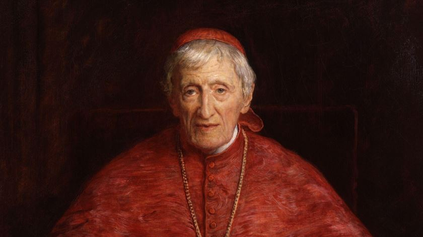 Cardeal John Henry Newman, retrato de John Everett Millais
