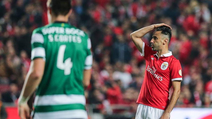 Benfica sentiu a falta de Jonas na reta final do campeonato. Foto: Miguel A. Lopes/Lusa