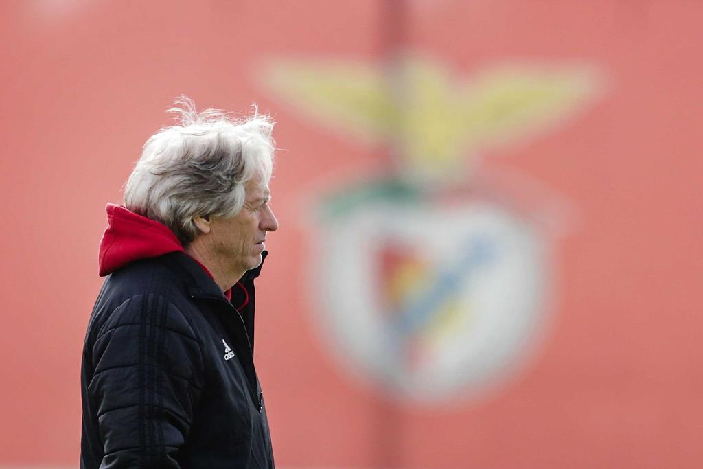 Jorge Jesus - treino do Benfica Foto: Tiago Petinga/Lusa