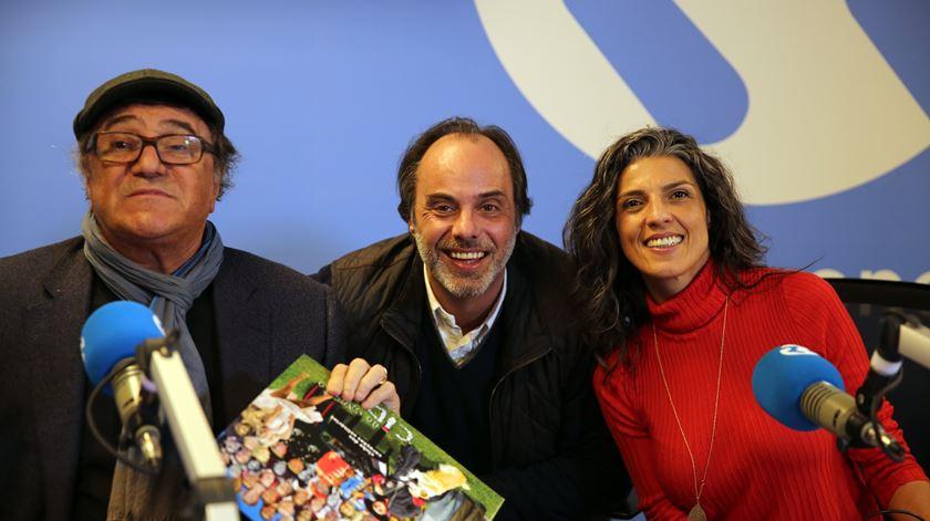 José Cid com os locutores Júlio Heitor e Sónia Santos