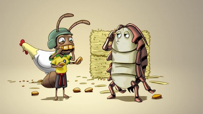 Kelvin e Cláudio, dois personagens do livro. Ilustração: Tiago Colaço e Pedro Marques