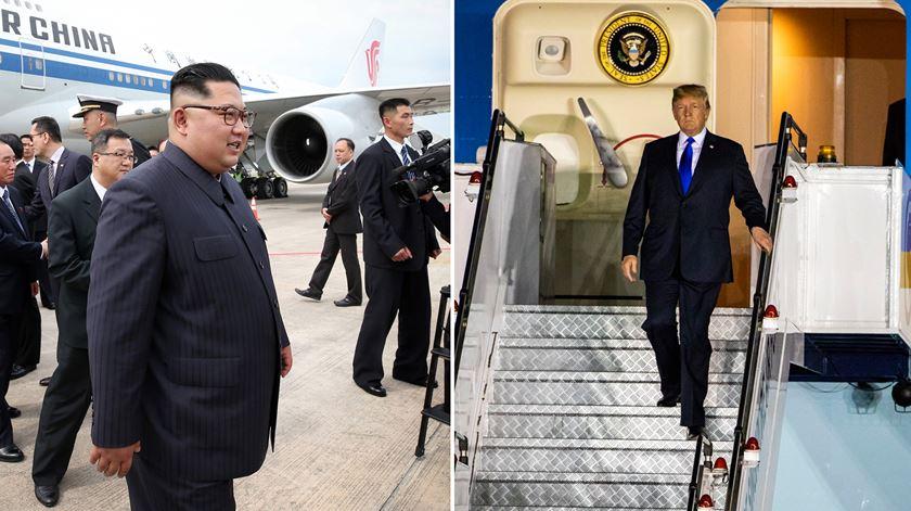 """O que sairá da cimeira com Kim? Trump saberá """"em apenas um minuto"""""""