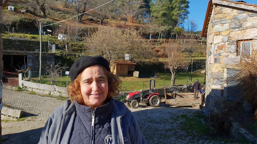 Lídia Teixeira, uma das habitantes de Tresminas. Foto: Olímpia Mairos/RR
