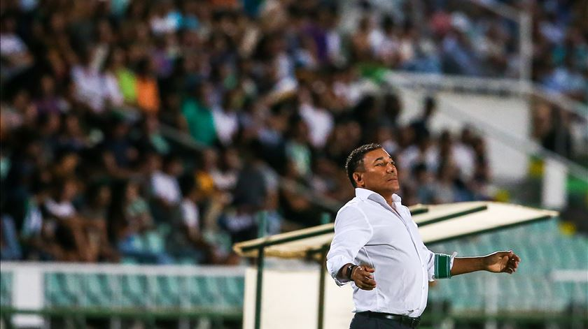 Lito Vidigal quer derrotar o Benfica. Foto: José Sena Goulão/Lusa