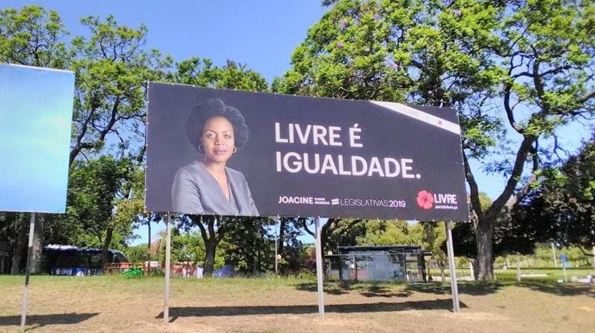Livre inaugurou cartaz com primeira negra como cabeça de lista em legislativas