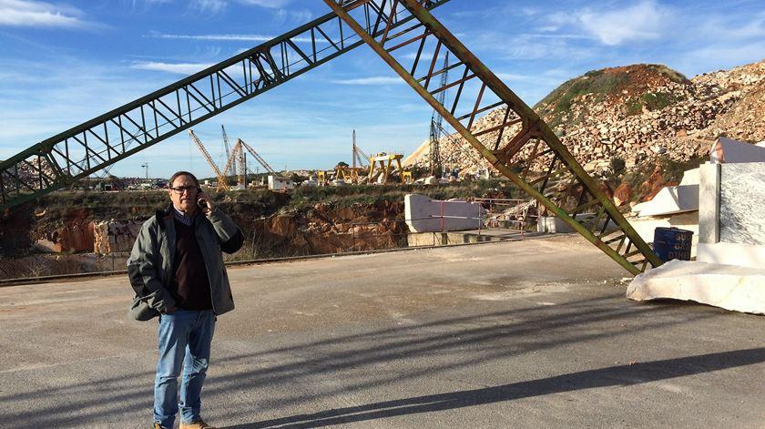 Luís Sotto Mayor, empresário da industria dos mármores. Foto: Rosário Silva/RR