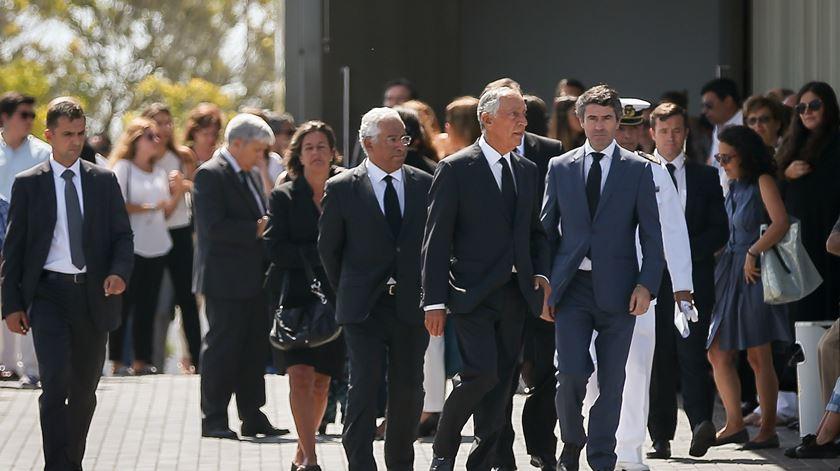 Marcelo e Costa no funeral das vítimas portuguesas do atentado terrorista em Barcelona