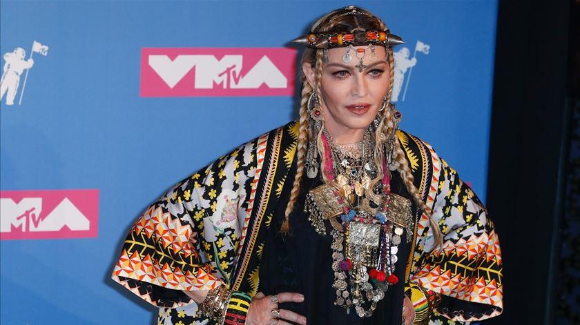 Madonna nos Prémios MTV. Foto: Jason Szenes/EPA