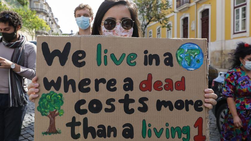 Última marcha climática global acontecceu a 25 de setembro. Foto: Paulo Novais/Lusa