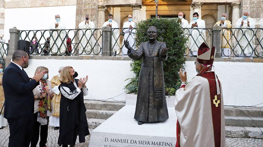 Estátua de D. Manuel Martins em Setúbal. Foto: Câmara Municipal de Setúbal