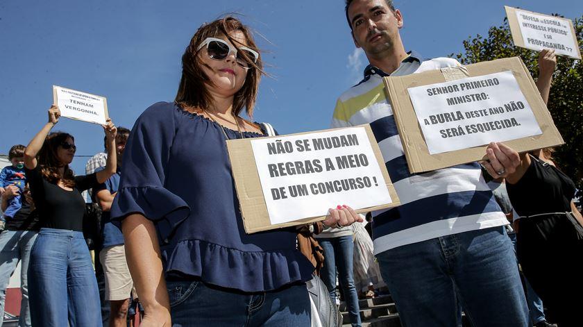 Professores protestam contra o Governo no dia 15. Foto: Manuel Araújo/Lusa