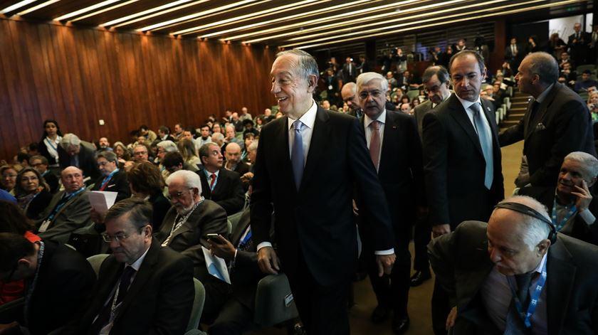 Marcelo Rebelo de Sousa à chegada para a sessão de abertura da 3.ª Edição das Conferências de Lisboa. Foto: Mario Cruz/Lusa