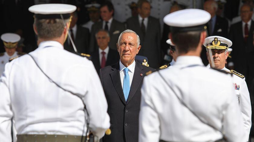 Marcelo Rebelo de Sousa orgulhoso das Forças Armadas. Foto: Miguel A. Lopes/Lusa