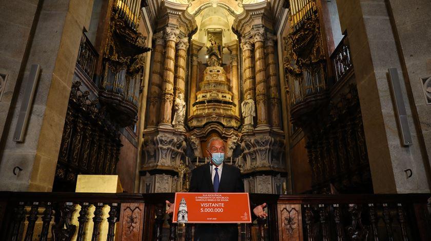 Marcelo Rebelo de Sousa é o visitante 5 milhões dos Clérigos