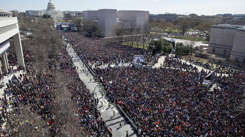 """""""Marcha pelas Nossas Vidas"""" ou como os alunos de Parkland querem mudar os EUA"""
