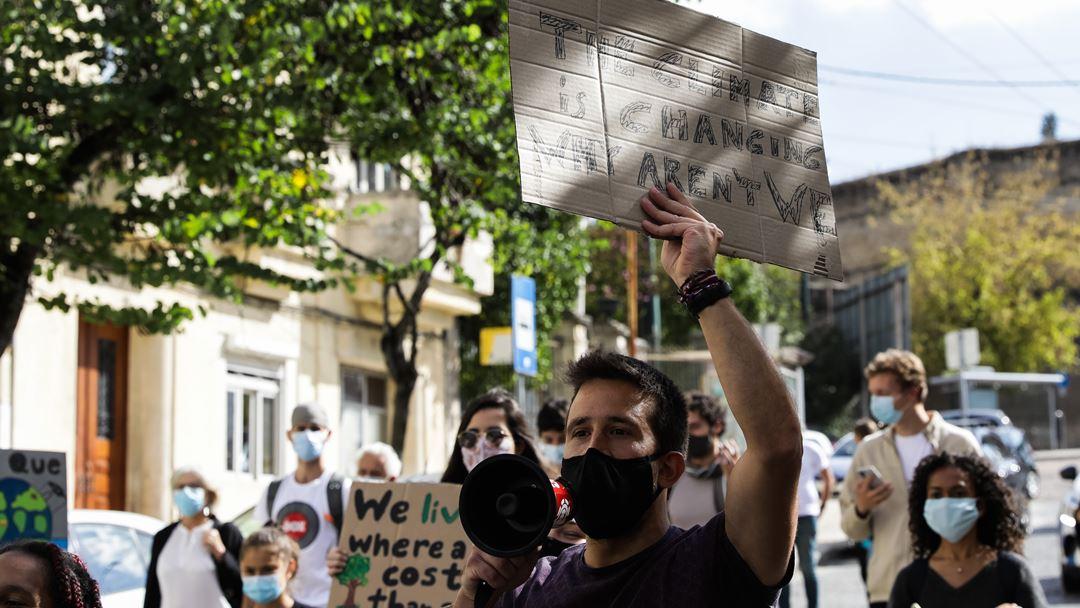 A marcha arrancou por volta das 17h do Marquês do Pombal pela Avenida da Liberdade. Foto: Paulo Novais/Lusa