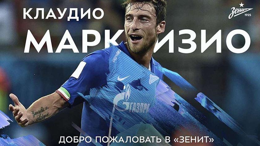 A experiência de Marchisio na Rússia não correu bem. Foto: Zenit