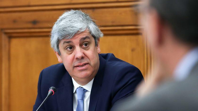 Mário Centeno elenca conquistas da legislatura socialista. Foto: António Cotrim/Lusa