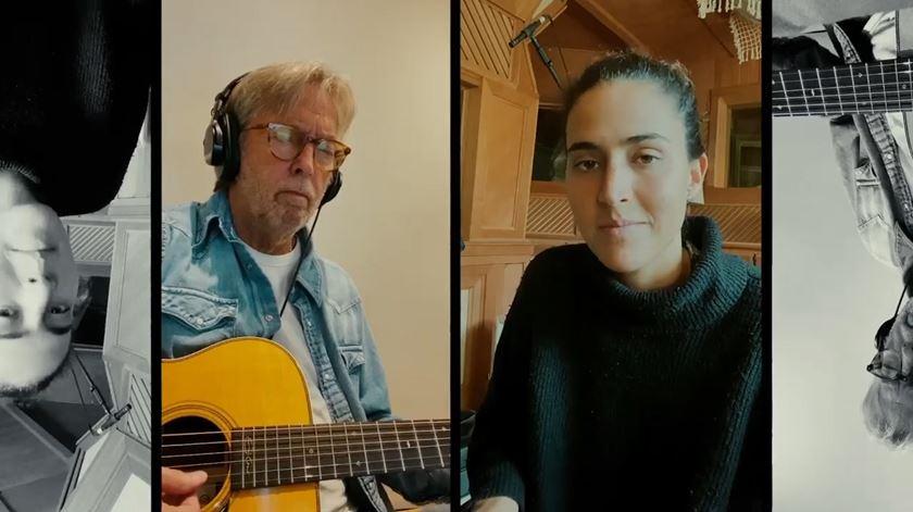 """Portuguesa MARO cantou com Eric Clapton na quarentena. """"Chorei quando recebi o vídeo dele"""""""