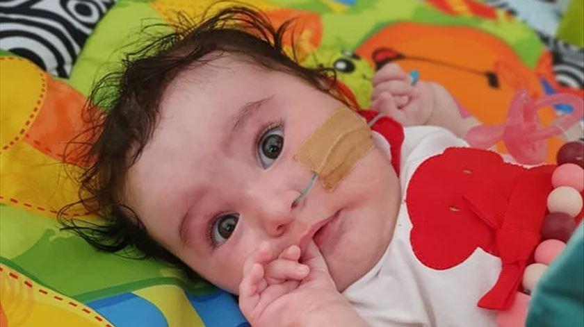 Nasceu em abril e foi-lhe diagnosticada atrofia muscular espinhal de tipo IFoto: Facebook
