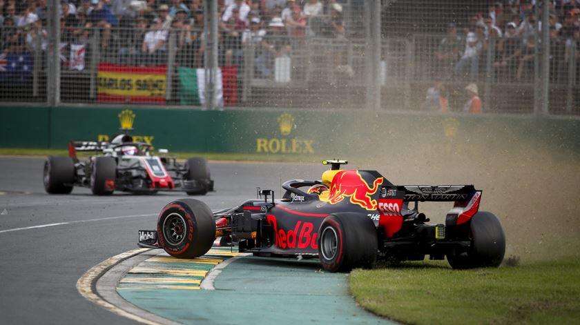 Verstappen não foi feliz em Albert Park, na Austrália. Foto: Diego Azubel/EPA