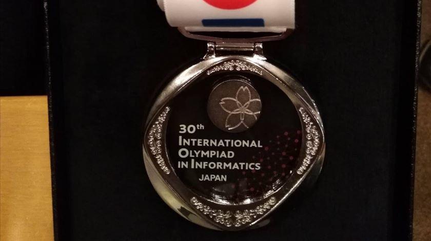 A medalha. Foto cedida por Kevin Pucci