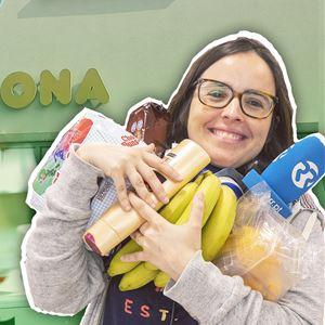 Joana Marques emocionada na abertura da Mercadona