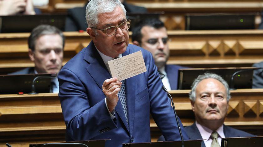 Fernando Negrão não concorda com avaliação de Castro Almeida. Foto: Miguel A. Lopes/EPA