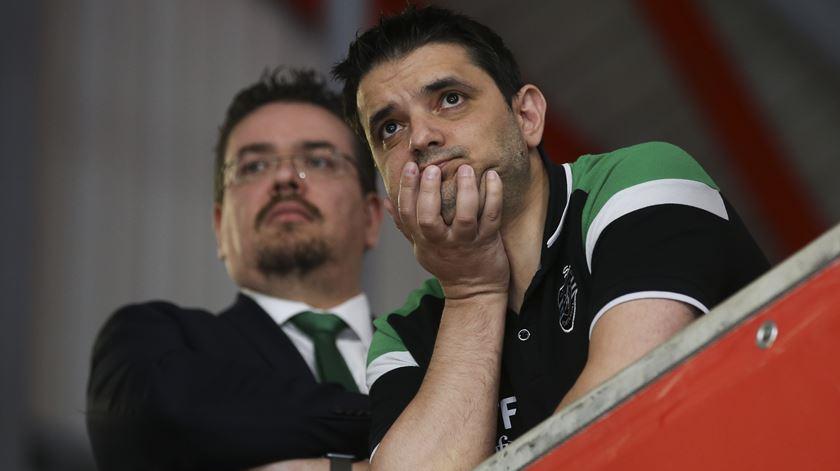 Miguel Albuquerque, à esquerda, está no Sporting há 14 anos. Foto: José Sena Goulão /Lusa.
