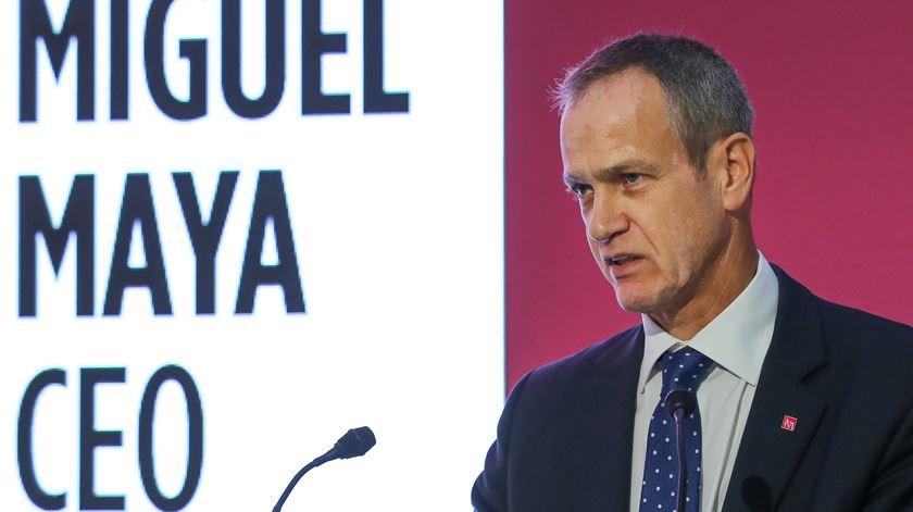 Miguel Maya, CEO do BCP, na apresentação de resultados. Foto: João Relvas/Lusa