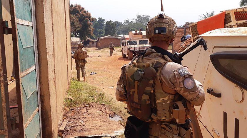 Militares portugueses na República Centro Africana. Foto: EMGFA