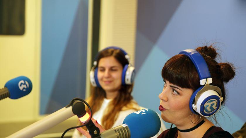 A ginasta Ana Rente e a cantora Mimi Cat