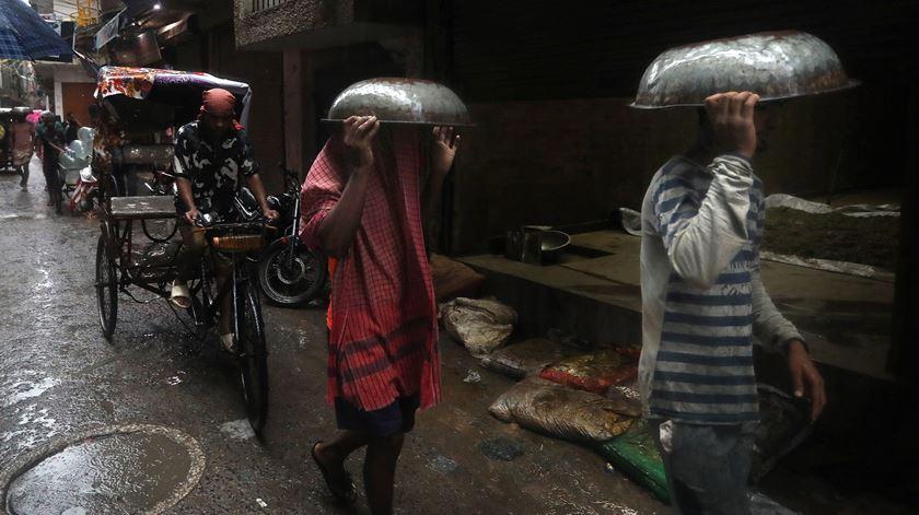 Monsões na Índia. Foto: Rajat Gupta/EPA