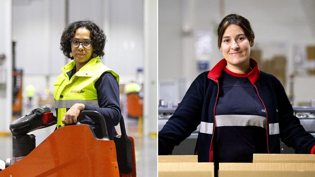 Rosimeira e Carolina trabalham para duas grandes distribuidoras na Azambuja.