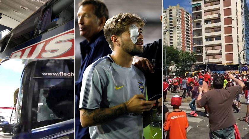 Final da Libertadores adiada após ataque ao autocarro do Boca Juniors