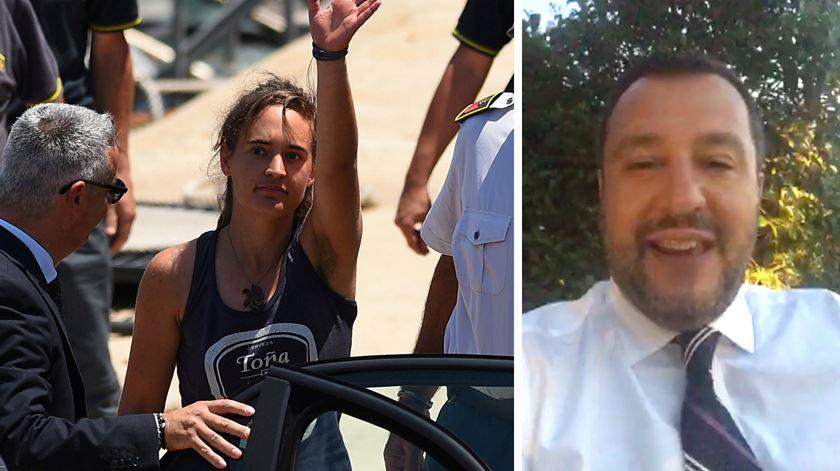 Salvini usa Facebook para criticar libertação da capitã alemã