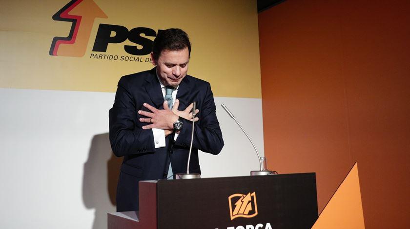 Montenegro candidato à liderança do PSD. Foto: Tiago Petinga/Lusa