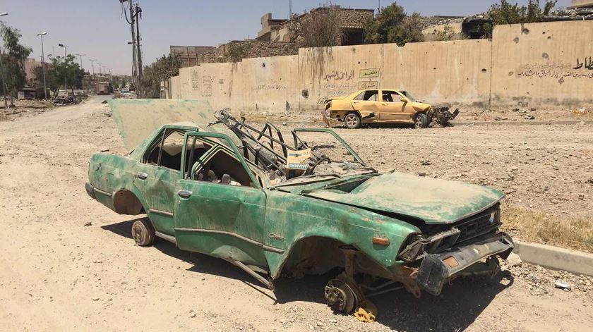Resquícios das batalhas no último bastião do Estado Islâmico no Iraque. Foto: Paulo Moura