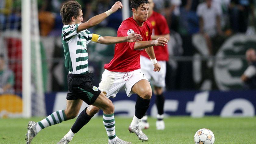 Ronaldo trocou o Sporting pelo Manchester United em 2003. Foto: Tony O