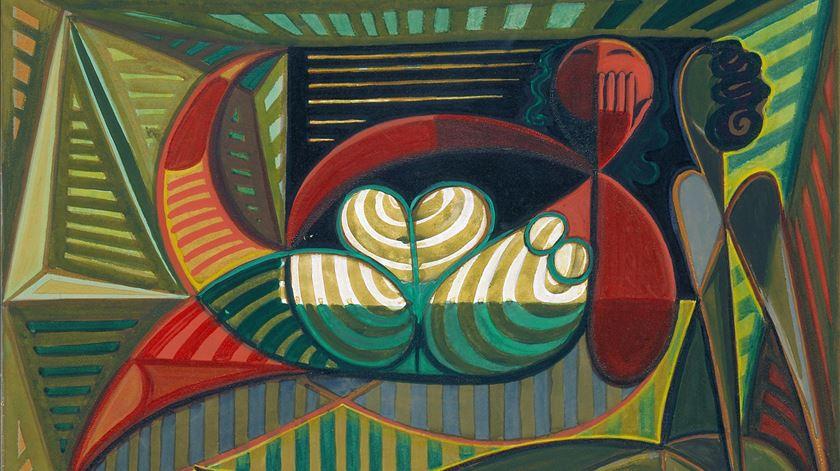 Uma das pinturas de Almada Negreiros patente na exposição. Foto cedida por: MNAC
